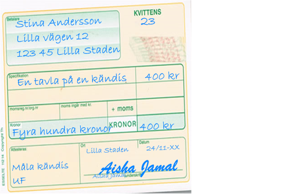 kontant betalning skatteverket