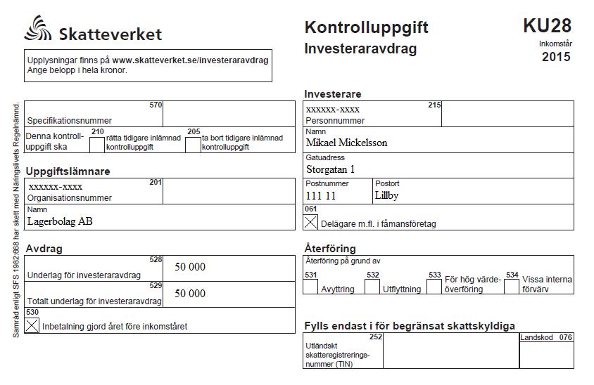 kontrolluppgifter från skatteverket